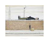 Man Lying On A Wall, 1957 Posters av Laurence Stephen Lowry