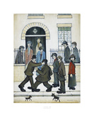 A Fight, c1935 Plakat av Laurence Stephen Lowry