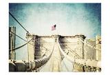 Vintage Brooklyn Bridge Affiches par Ashley Davis