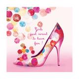 Pretty Bubble Shoe Giclée-Premiumdruck von Colleen Sarah