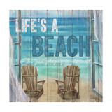 Life's a Beach Weathered Wood Sign Reproduction giclée Premium par Sam Appleman