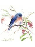 Blue Bird 8 Póster por Suren Nersisyan