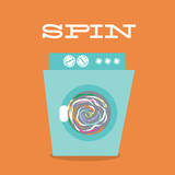 Laundry Spin Poster van Tiffany Everett