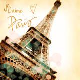 Paris je T'aime Print by Emily Navas