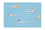 Background with Swimming Pool Póster por  Milovelen