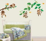 Four Little Monkeys Wall Decal