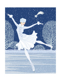 Christmas Card with Skater Prints by  Milovelen