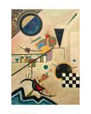 Contrasting Sounds, 1924 Impressão giclée por Wassily Kandinsky