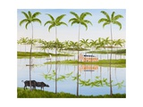 Balmy Backwaters, 2014 Impressão giclée por Rebecca Campbell