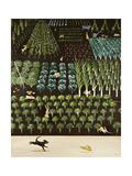 A Trip of Rabbits, 2009 Giclée-tryk af Rebecca Campbell