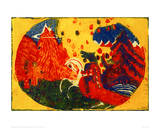 Mountains, 1911 Reproduction procédé giclée par Wassily Kandinsky