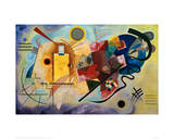 Yellow-Red-Blue, 1925 Giclee-trykk av Wassily Kandinsky