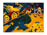 Houses on a Hill, 1909 Giclee Print by Wassily Kandinsky