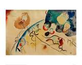 Composition with Trojka Theme, 1911/12 Giclée-tryk af Wassily Kandinsky