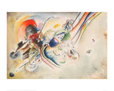 Study for Picture with Two Red Spots, 1916 Giclée-Druck von Wassily Kandinsky
