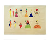 Pictures at an Exhibition Figures Image XVI, 1930 Giclee Print by Wassily Kandinsky