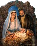 Christmas Nativity - By Dona Gelsinger Lifesize Standup Cardboard Cutouts