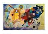 Yellow-Red-Blue, 1925 Giclée-tryk af Wassily Kandinsky