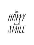Be Happy And Smile Kunst von Brett Wilson