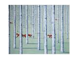 A Skulk of Foxes Giclée-Druck von Rebecca Campbell