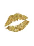Lips Gold Poster by Brett Wilson
