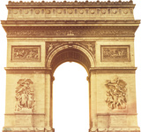 Paris Arc de Triomphe Lifesize Standup Cardboard Cutouts