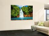 Tropical Waterfall Wallpaper Mural Tapettijuliste