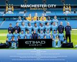 Manchester City Team Photo 14/15 Kunstdruck