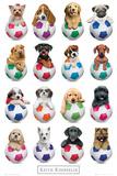 Keith Kimberlin Puppies - Footballs Poster von Keith Kimberlin