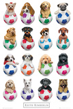 Keith Kimberlin Puppies - Footballs Póster por Keith Kimberlin