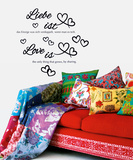 Love Is - Liebe ist Wall Decal Autocollant mural