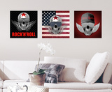 A Skulls Wings Wall Decal Autocollant mural
