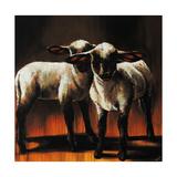 1 Sheep 2 Sheep Lámina giclée por Sydney Edmunds