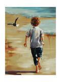 Boy at the Beach Giclee Print by Sydney Edmunds
