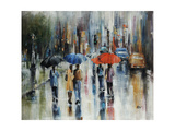Downtown Downpour Giclee Print by Farrell Douglass