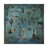Antique Keys Lámina giclée por Sydney Edmunds