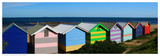Colorful Bathing Boxes Print by R. Mackenzie