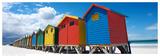 Rainbow Beach Huts Prints by N. Bradfield