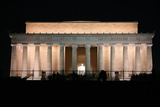Abraham Lincoln Monument at Night, Washington DC Photographic Print by  Zigi