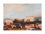 Farnley Hall, Otley, Shooting Party on the Moors Giclee-trykk av J. M. W. Turner