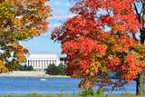 Washington Dc, Lincoln Memorial in Autumn Photographic Print by  Orhan