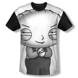 Family Guy - Stewie Head (black back) Sublimated