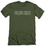 Falling Skies - Distressed Logo (slim fit) Shirts