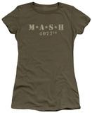 Juniors: M.A.S.H - Distressed Logo T-Shirt