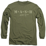 Longsleeve: M.A.S.H - Distressed Logo Long Sleeves