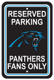 NFL Carolina Panthers Plastic Parking Sign - Reserved Parking Wall Sign