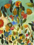 Turquoise Garden Giclée-tryk af Kim Parker