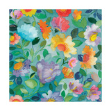 Turquoise Textile Giclee Print by Kim Parker