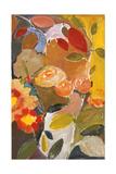 Roses orangées Reproduction procédé giclée par Kim Parker