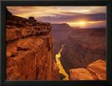 Grand Canyon set fra Toroweap Point Indrammet fotografisk tryk af Ron Watts